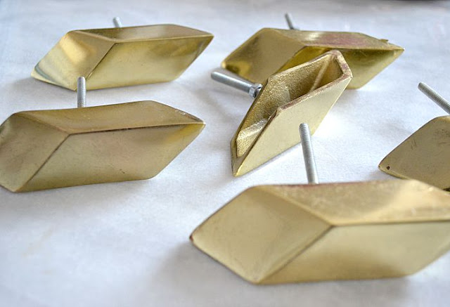 Anthropologie.Geometric.Gold.Brass.Drawer.Pulls.Knob