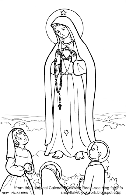 Our Lady of Fatima coloring page and commissions title=