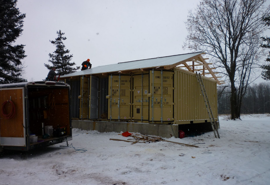 Shipping container homes tin can cabin in northern wisconsin Northern wisconsin home builders