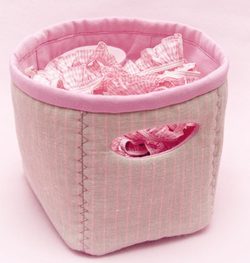 Корзинка для хранения из ткани