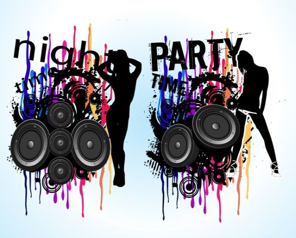 Free Grunge Night Party Vectors