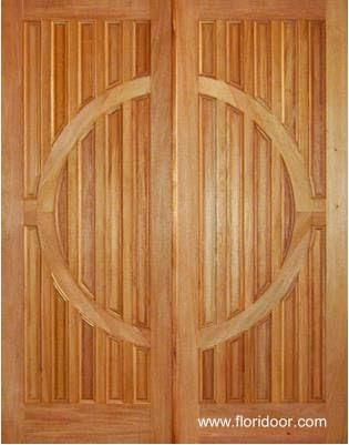 Puerta doble de madera diseño moderno producida en Estados Unidos