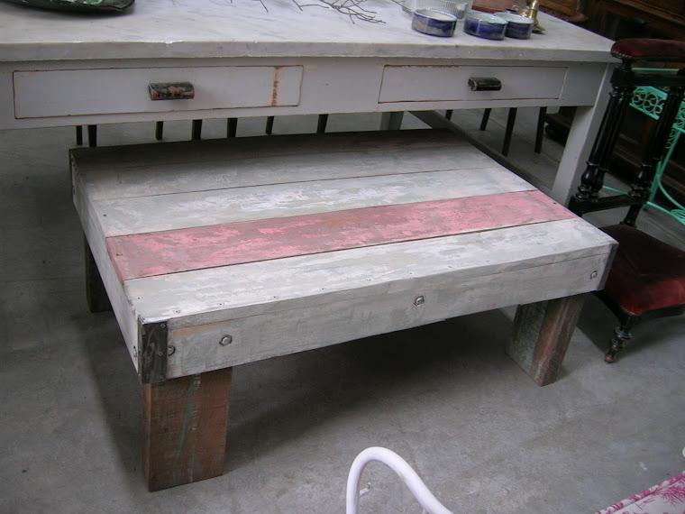 mesa tablon rosa