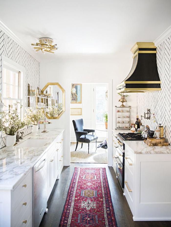 Sample White Tiles In The Living Room