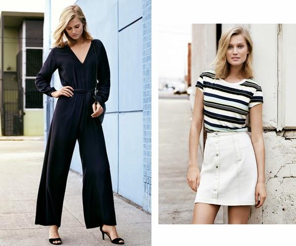 H&M moda primavera verano 2015 mono y falda