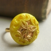Mustard Yellow Vintage Ring
