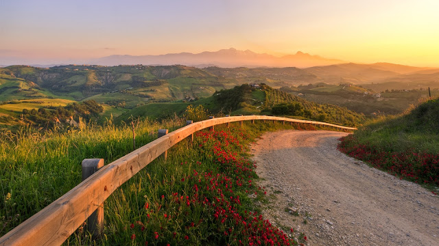 Italy Sunset Landscape