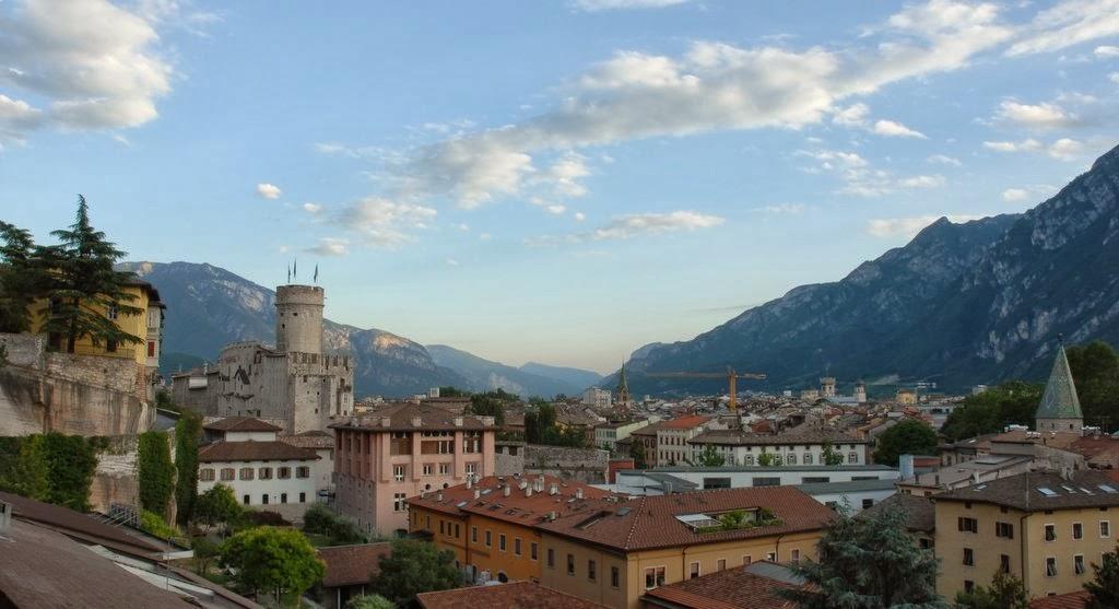 Город Тренто в Италии