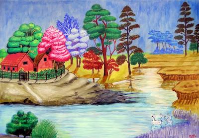 Landscape Painting by Prem Gaire