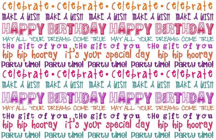Printable Birthday Gift Wrapper ~ Happy birthday placemats free printables