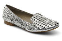Silver studded shoes from Steve Madden