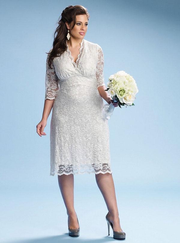 Kurzen Große Größen Brautkleid
