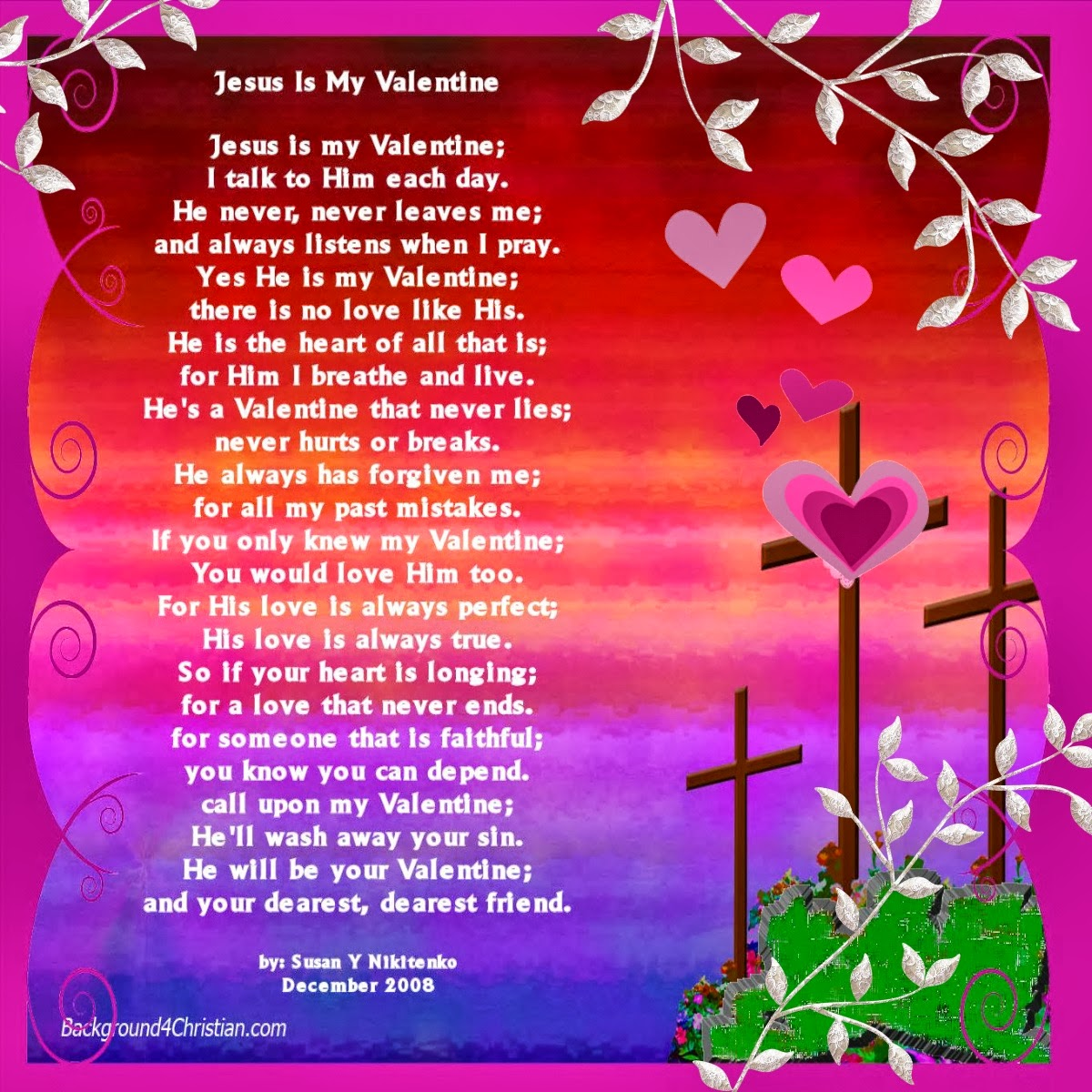 Jesus Is My Valentine Poster