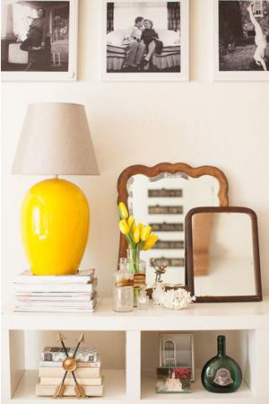 lámpara amarilla