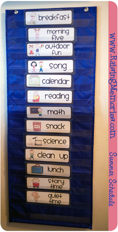 A summer schedule