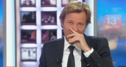 Laurent delahousse pique un fou rire apr s un reportage tr s glissant sur les lorrains vid o - Presentateur journal du hard ...