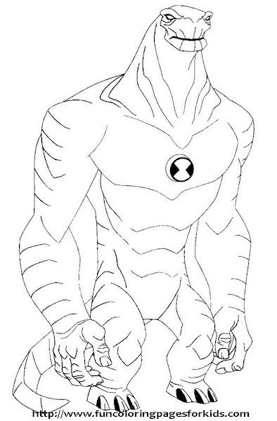 Ben 10 Omniverse Alien Printable Coloring Pages