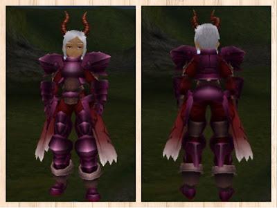 プレートアーマー赤紫1・茶1・赤2 男