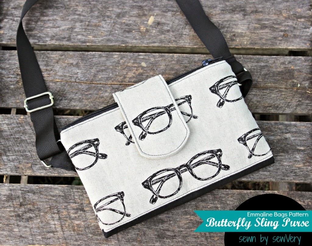 Purse Palooza :: Pattern Review : Emmaline Bags Butterfly Sling ...