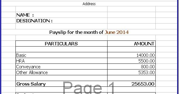 Wage Slip Template SalarySlipTemplate Jpg 674473 Salary