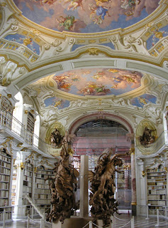 Admont Library - Words largest monastic library - Austria