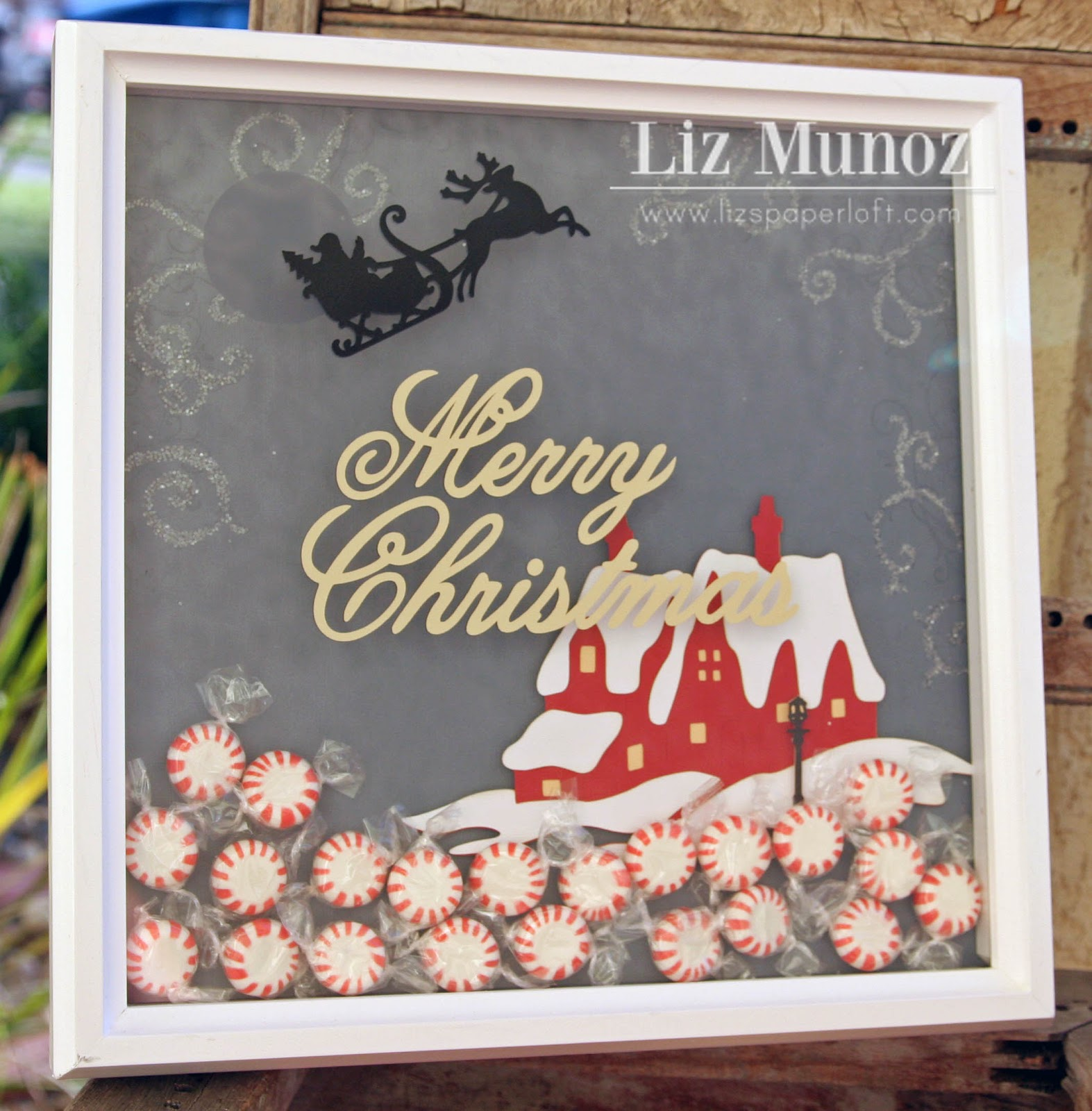 Cricut Christmas Crafts Part - 44: It Has Been One Of My Most Popular Projects On My Blog And Pinterest. So I  Thought That I Would Create A Christmas Shadow Box Similar To My Original  One!