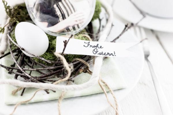Frohe OStern: Tischdeko selbermachen
