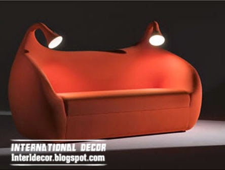 red sofa bed, creative beds for modern interior