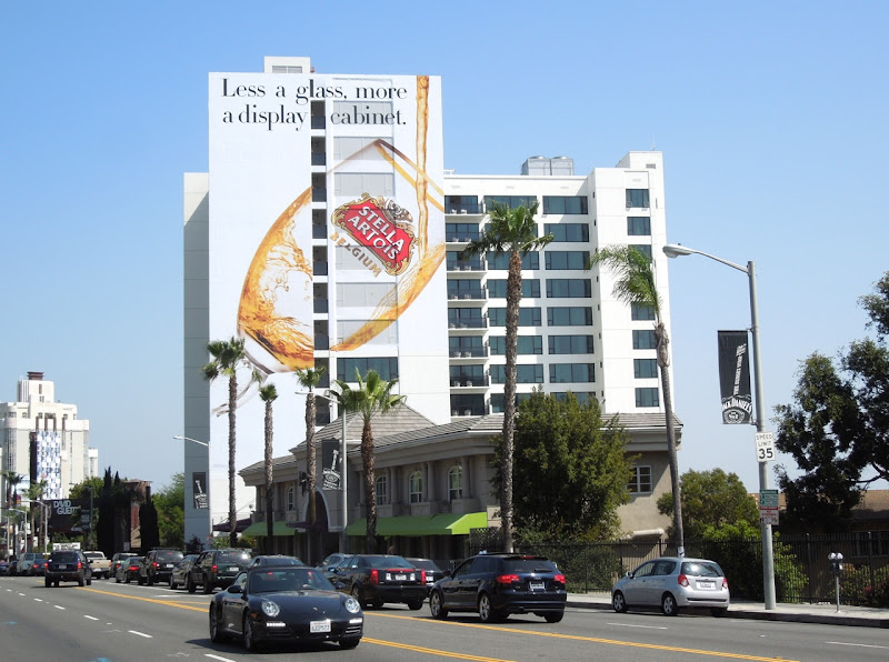 Giant Stella Artois billboard Sunset Strip