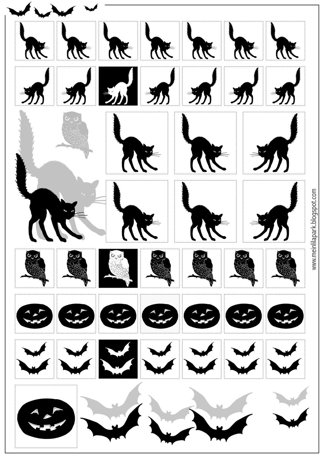 Free Printable Halloween Stickers Black And White