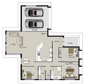 infomedia digital: contoh denah rumah sederhana terpopuler