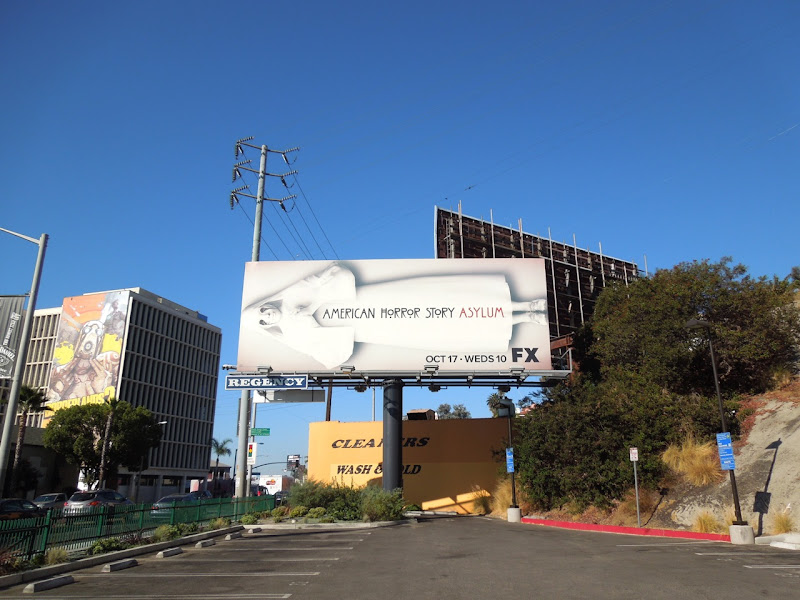 American Horror Story Asylum billboard Sunset Blvd