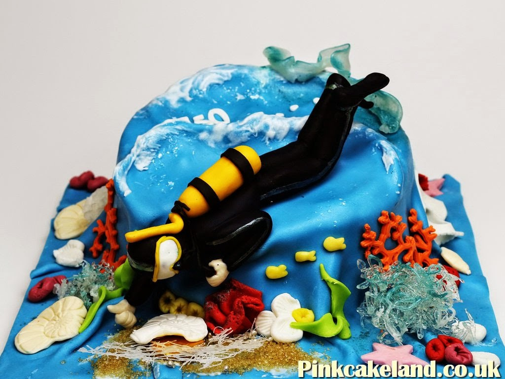 Scuba Dive Birthday Cake, London