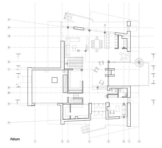 Arquitectura de casas moderna casa residencial rusa de for Pie de plano arquitectonico