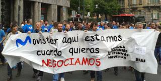 Jornada de huelga en las plantillas de las subcontratas de Movistar