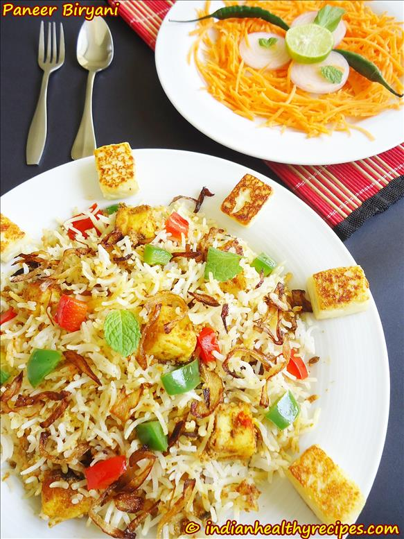 paneer biryani recipe easy method