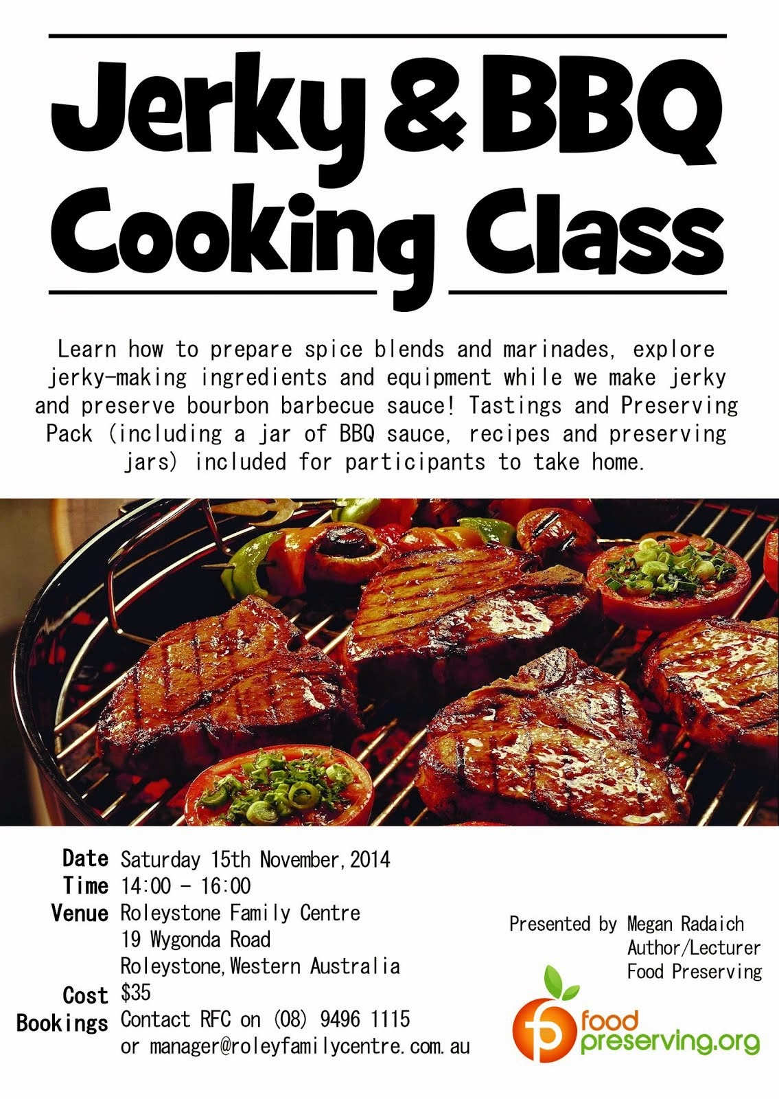 NOVEMBER 15: JERKY BBQ CLASS