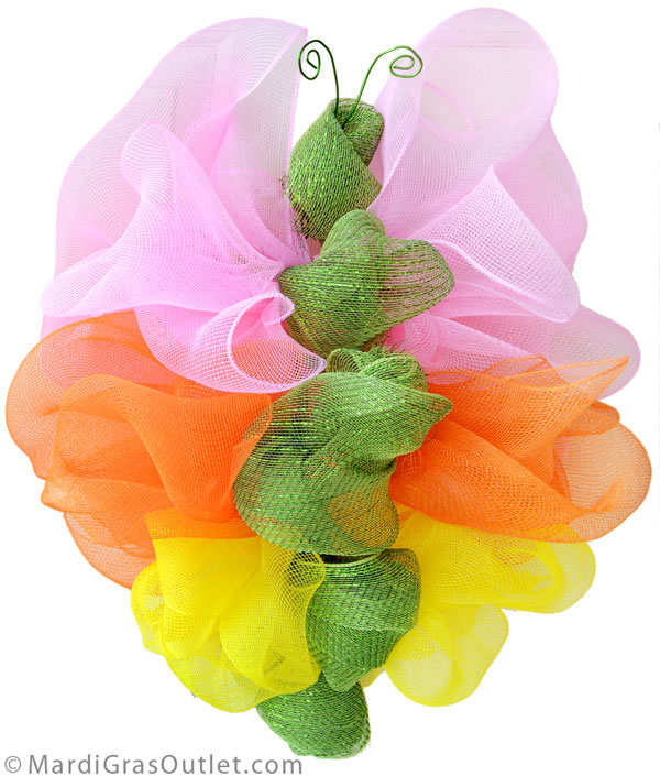 Deco Mesh, Wreath, Tutorial, Butterfly, How to, Spring, Summer, Wreath Ideas
