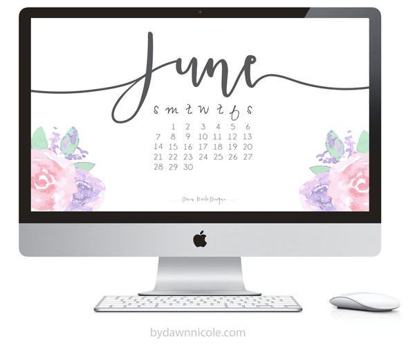 Wallpaper June 2015 - by Dawn Nicole Designs