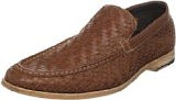 Cole Haan Men's Air Joseph Woven Venetian Slip-On,Tan,11 M US