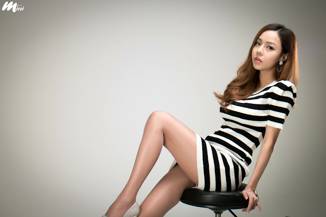 1 Seo Jin Ah in Black and White Mini Dress -Very cute asian girl - girlcute4u.blogspot.com