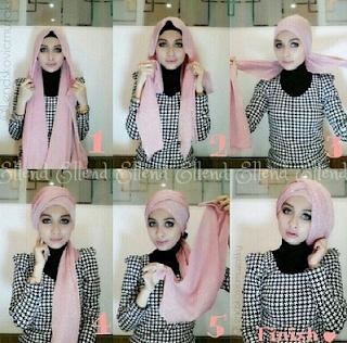 Tutorial dan Foto Cara Pakai Hijab Modern Layer Gaya Terbaru 2016