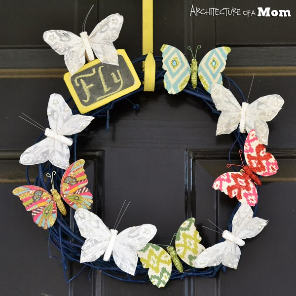 Spring Butterfly Wreath via Architecture of a Mom