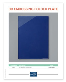 3D embossing plate