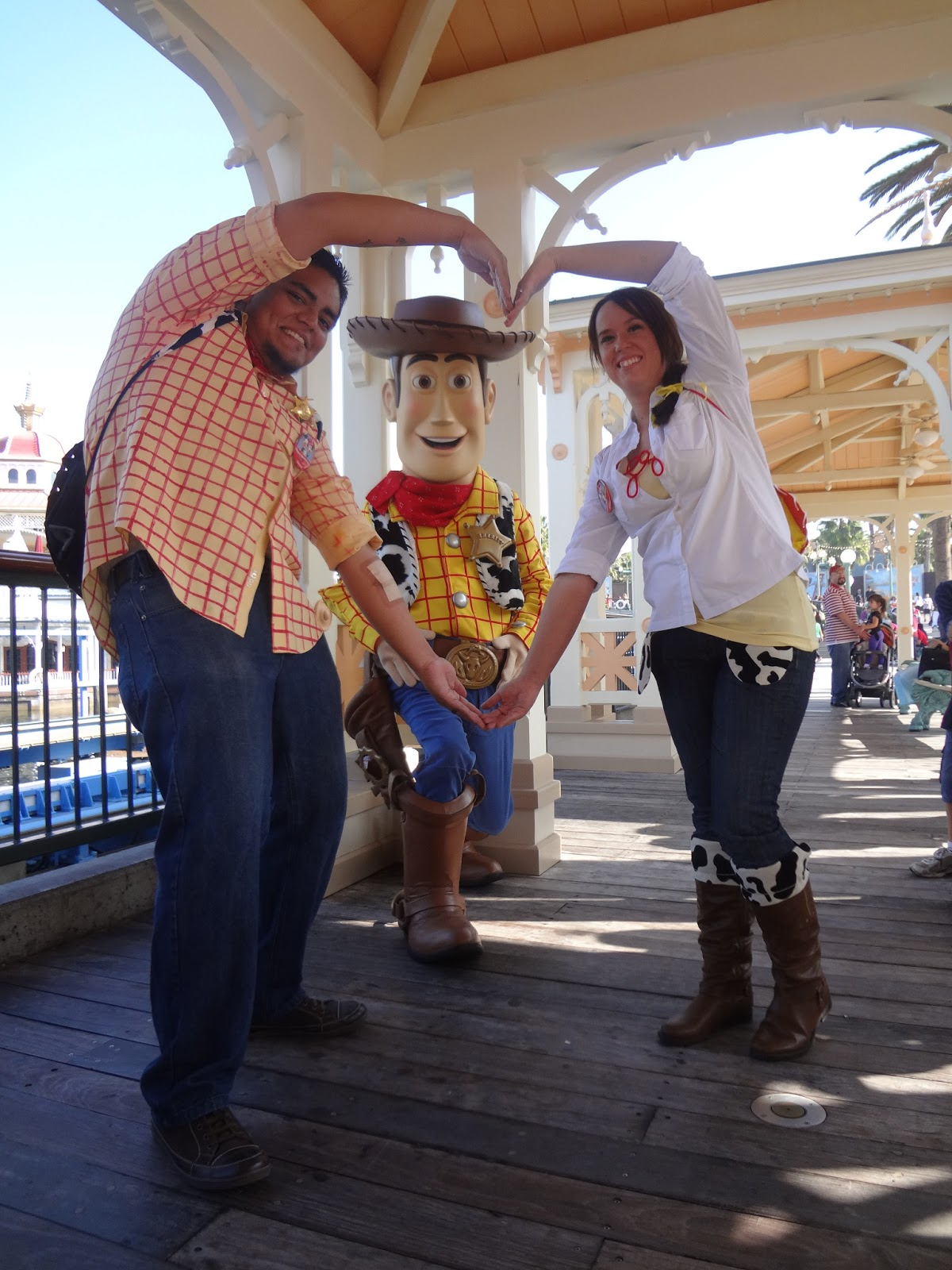 The busy broad diy adult jessie and woody costumes making the heart was woodys idea solutioingenieria Images