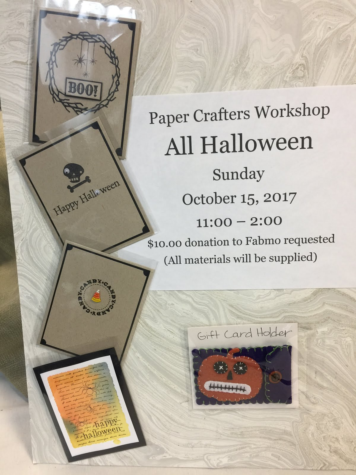 Paper Crafters October Workshop