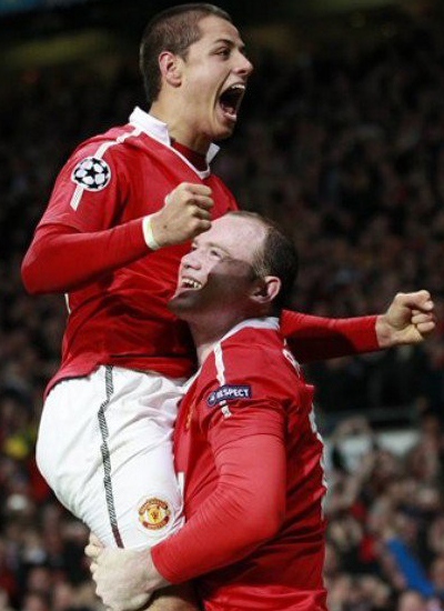 Chicharito and rooney