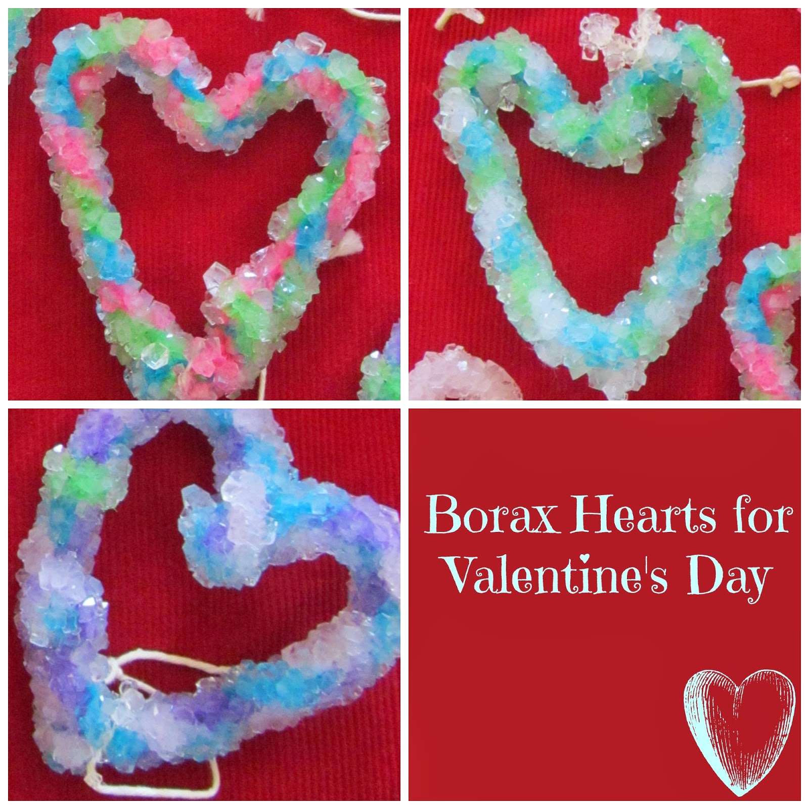 Valentineu0027s Day With Borax Crystals