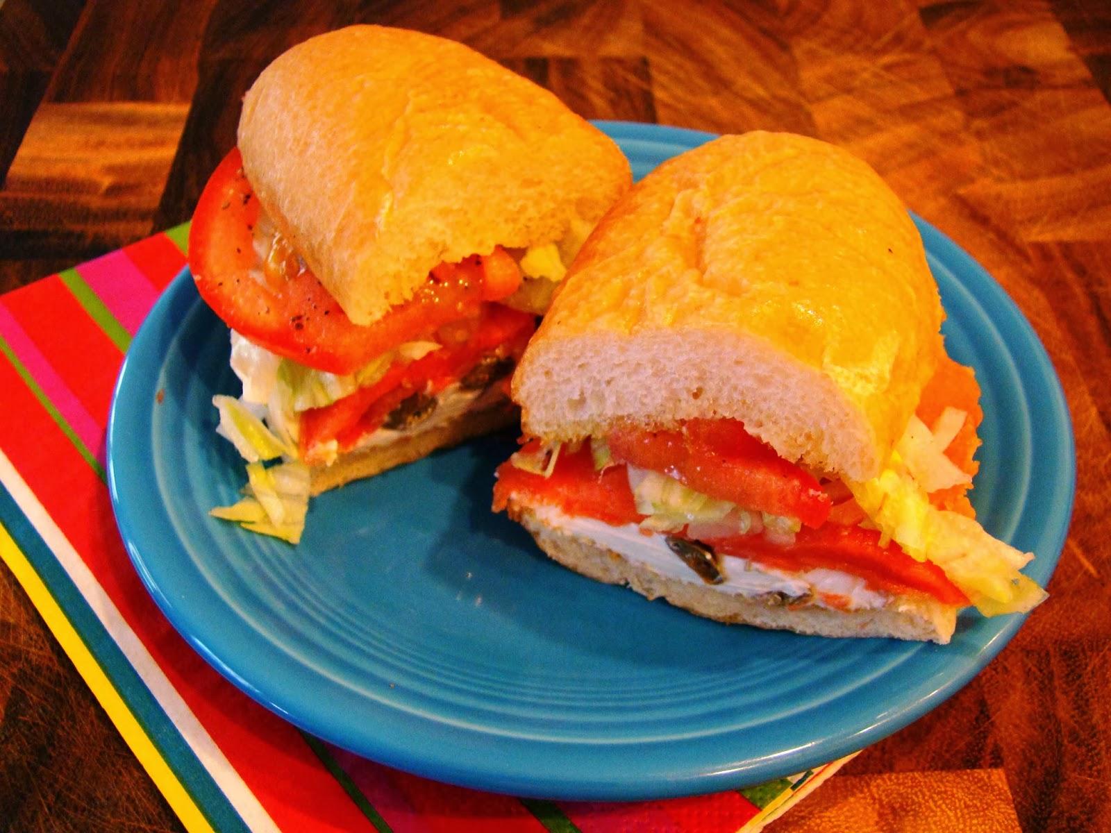 SmokedSalmon and Cream Cheese Sandwich