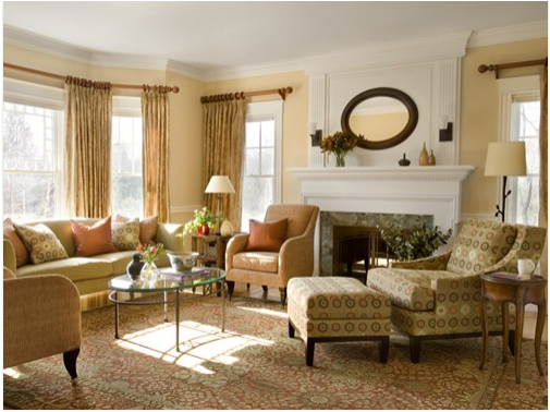 Traditional living room design ideas home interior Apartment furniture layout ideas